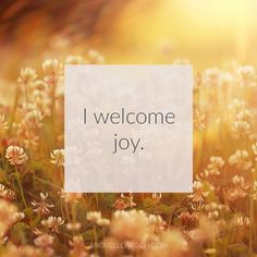 3 Minute Meditation + Affirmation: I welcome joy. Use this meditation to get present and bring more joy into your life.