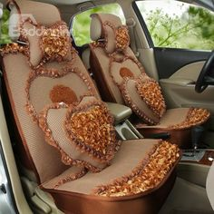 Luxurious Flower Decoration And Environment Material Most Beautiful Universal #Car #Seat #Cover