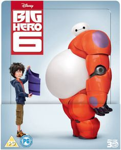 Big Hero 6 3D (Includes 2D Version) Zavvi Exclusive Lenticular Edition Steelbook