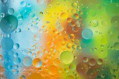 oil and water macro photo by Lauren Sheintal