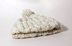 Hand Knitted Cream Bobble Hat For 13 Years by TheGrangeCrafts, £15.65