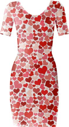 Wuv Short Sleeved Bodycon Dress - Available Here: http://printallover.me/products/0000000p-wuv-1