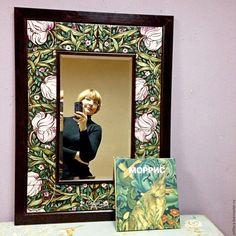 Купить Зеркало Морисс орнамент - зеркало, зеркало в раме, зеркало с рамой, зеркало настенное Decoration, Pottery, Hand Painted, Ornaments, Frame, Interior, Wall, Home Decor, Mirrors