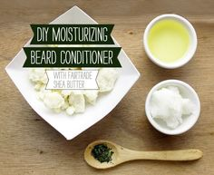 Beard conditioner to get a mans facial hair touchable and contained. I have not made this yet but it also states that it is easier to style as well. Diy Beard Oil, Beard Grooming Kits, Men's Grooming, Beard Butter, Beard Shampoo, Beard Tips, Beard Conditioner, Beard Balm, Beauty Recipe