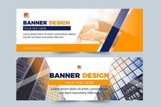 Blue and white business banner | Free Vector Web Banner Design, Flyer Design, Brochure Design, Banner Vector, Banner Template, Creative Banners, Creative Design, Modern Design, Standee Design