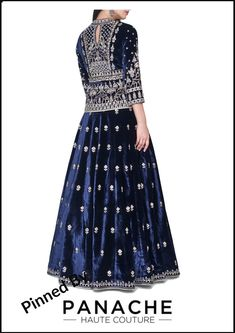 Navy Blue Party Lehenga in velvet For customizations and other details please contact our sales team through WhatsApp 61470219564 Couture Dresses, Bridal Dresses, Fashion Dresses, India Fashion, Girl Fashion, Fashion Hub, Indian Wedding Outfits, Indian Outfits, Salwar Kameez