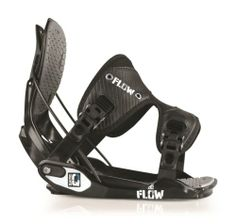 New Flow Quattro Black Mens Large All Mountain Snowboard Bindings 2013 Msrp$180