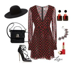 """Polka~me~some~dots"" by coolmommy44 ❤ liked on Polyvore featuring McQ by Alexander McQueen, Forever 21, MM6 Maison Margiela, Dolce&Gabbana, Marni, Estée Lauder and polkadot"