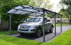 The very first step in building a carport is rather simple. Similarly, just like the larger portion of the carport designs, the quad carport come in a lot of styles and arrangements. Building A Carport, Carport Canopy, Carport Kits, Pergola Diy, Pergola Carport, Carport Ideas, Pergola Swing, Metal Pergola, Building Plans