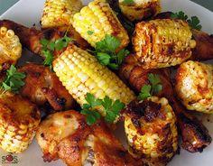 SOSCuisine: Poulet et bl dInde grills la cajun Corn In The Oven, Actifry, Chicken Drumsticks, Great Recipes, Grilling, Food Porn, Yummy Food, Meals, Vegetables
