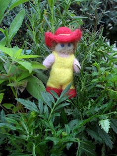 A Life Wrapped in Ribbons: Needle Felted Gardener