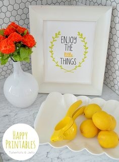 Three FREE Enjoy the Little Things Printables at Tatertots and Jello #DIY #Spring