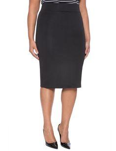 Neoprene Column Skirt from eloquii.com