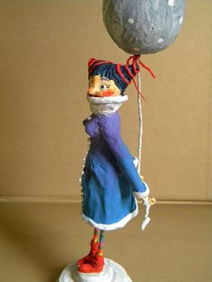 Smilla.  Papier maché art doll.