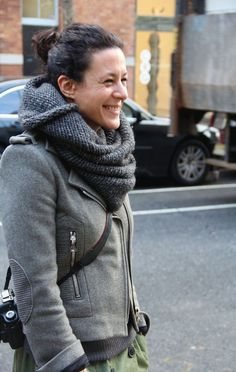 Garance Dore wearing Isabel Marant Grey Woolen Perfecto Jacket, soon available on The Stylist Depot.com !!