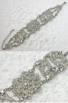 Gorgeous clear bracelet for Bridal Bride Bridesmaid by AnhsJewelry