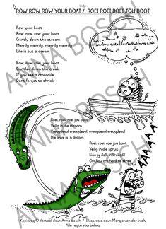 33557-RoeiThumb Row Row Row, Row Row Your Boat, The Row, Nursery Songs, Fun Illustration, Afrikaans, Boots, Music, Drama