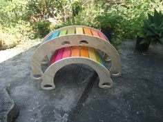 **** THIS ITEM IS MADE TO ORDER, WE CAN NOT GUARANTE IT WILL BE DELIVERED ON TIME FOR CHRISTMAS*** The largest and tallest Rainbow Rocker of our Rockers