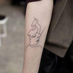 Tatuaje inspirado en la ilustración Close del...