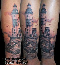 "The Aniva lighthouse, mercusuar, lighthouse, russia, tattoo, black'n grey  By Riki Indrajid ""Blind Tattoo"" Surabaya-Indonesia,Tlpn :+6281944886620/+6282227773828,Pin BB:2A991C1B,@riki_blind,riki.chelenk@gmail.com http://facebook.com/riki.indrajid16-http://rikiindrajid.tumblr.com"