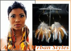 Basketball Wives Style Feather Earrings Aja Wigs | Online Jewelry