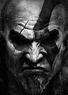 """Kratos,personagem principal da série de jogos """"God of War""""."""