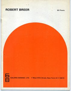 1968 gallery bonino robert breer floats exhibition brochure