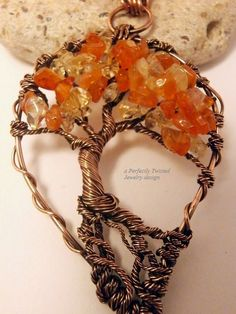 Perfectly Twisted Handmade Wire Wrapped Beaded and Gemstone Jewelry: A Perfect Symbol of Love and Life... New in my store! Tree of Life Wire Wrapped Pendants by https://www.etsy.com/shop/PerfectlyTwisted