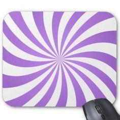 Lavander spiral design mouse pad $12.10 *** Light purple color spiral *** light purple - lavender - purple spiral - spiral - swirls - rays - color - purple - twisting rays - purple swirl - happy - light - mouse pad