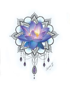 I would want the lotus flower itself as a tattoo, minus all the embellishments