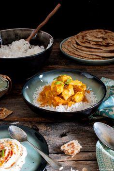 Pollo tikka masala e paratha (di Jamie Oliver) _ Tikka masala chicken with paratha bread