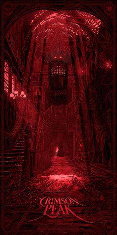 SDCC 2015. Crimson Peak Mondo Posters by Daniel Danger. Source: http://www.slashfilm.com/crimson-peak-mondo-posters/