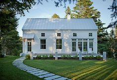 Windows, trim, roofing, and landscaping