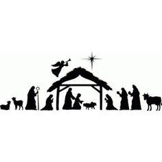 free printable silhouette of nativity scene Christmas Stencils, Christmas Vinyl, Christmas Nativity, Homemade Christmas, Christmas Crafts, Christmas Decorations, Christmas Ornaments, Diy Nativity, Christmas Concert