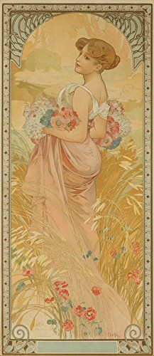 The Seasons Summer Vintage Poster artist Mucha Alphonse France c 1900 24x36 Giclee Gallery Print Wall Decor Travel Poster * Details can be found by clicking on the image-affiliate link. #VintageKitchen