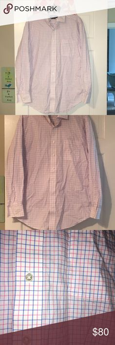 Vineyard vines classic cooper shirt large Great condition worn only once!!! White, blue, and pink check vineyard vines men's cooper shirt. Size large Vineyard Vines Shirts Casual Button Down Shirts