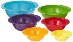 Gourmet Home Products Melamine Multicolor Mixing Bowl Set Ceramic Bakeware, Ceramic Bowls, Mixing Bowls, Bowl Set, Ceramics, Tableware, Products, Interior, Gourmet