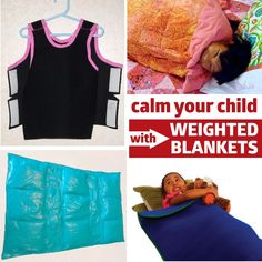 make weighted blankets to help your kids