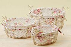 pretty basket liners