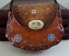 Boho Chic Mexican Leather Purse by SunshineSurprises on Etsy, $18.00