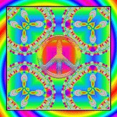 rainbow peace kaleidoscope