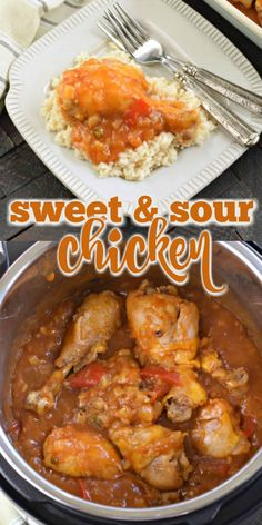 Instant Pot Sweet and Sour Chicken Recipe Tender juicy chicken legs sweetened with pineapples and barbeque sauce. You'll love this easy Instant Pot Sweet and Sour Chicken recipe for a delicious weeknight dinner. Chicken Leg Recipes Easy, Chicken Drumstick Recipes, Recipe Chicken, Sweet And Spicy Chicken, Chicken Legs, Ip Chicken, Chicken Pasta, Instant Pot Dinner Recipes, Instant Recipes