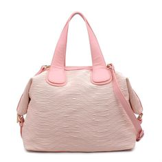 "- Bag Type: Satchel - Material: Faux Leather - Closure: Zipper - Exterior Details: Debossed textured faux leather - Inside Features: 1 zipper pocket and 2 slip pockets - Handle Drop: 6"" - Shoulder Strap Drop: 10"" - 15"" 16.00 ""L x 5.50 ""W x 12.00 ""H"