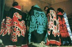 1997 Skidegate (Haida Gwaii) Graduates with their button blankets