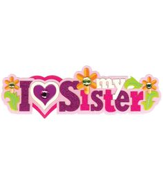 Jolee's Boutique Title Wave Stickers-I Love My Sister, , hi-res  $5.29