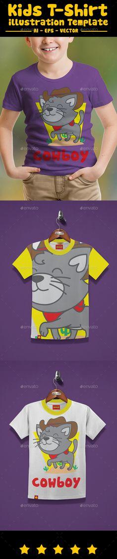 Cowboy Cat Kids T-Shirt - T-Shirts