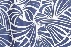 Japanese Fans from Florence Broadhurst via Signature Prints #fabric #silk #blue #white