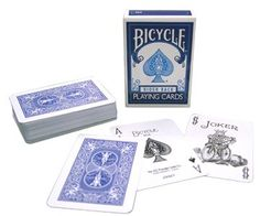 Amazon.com: MMS Mini Hoyle Playing Cards (Blue) by US Playing Card Co. - Trick: Toys & Games