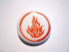 Divergent Dauntless Flame Sigil Button by Kawaiistarz on Etsy, $1.25