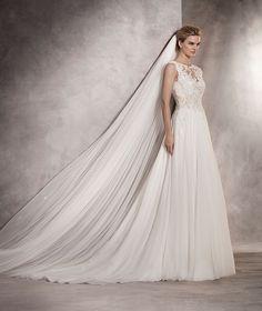 Atlantis - Vestido de novia con escote V espalda y encaje